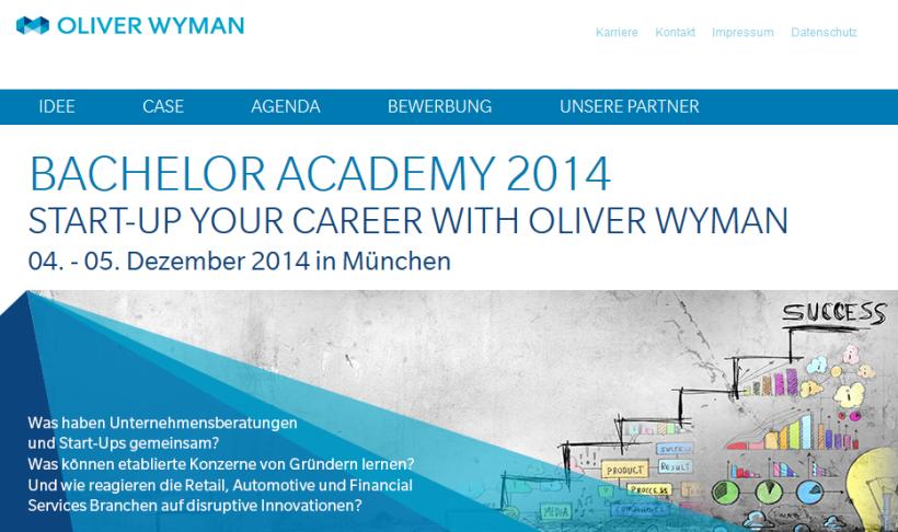 Oliver Wyman - Bachelor Academy 2014