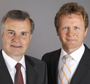 Die beiden CEOs Georg Tacke (links) und Klaus Hilleke (rechts) (C) Simon-Kucher & Partners