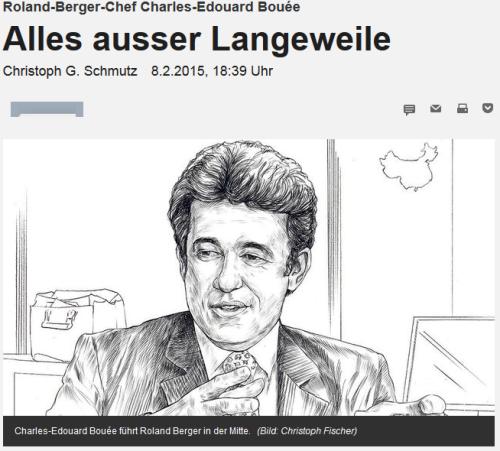 Die NZZ im Gespräch mit Charles-Edouard Bouée